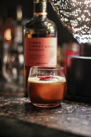 Nikka Coffey Grain Whiskey, Cuban Colada & Thai Chili Syrup