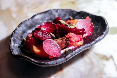 Baby Beets, Strained Yogurt, Key Lime, Pistachio