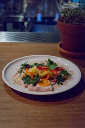 Pork Tonnato pickled vegetables