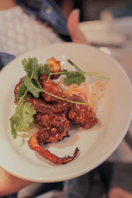 BBQ Octopus w/ coleslaw
