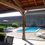 Heated pool 10x4 with loungers