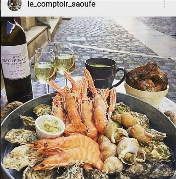château sainte-marieVieilles vignes entre deux mers le comptoir saoufe restaurant