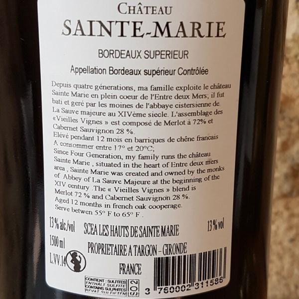 Magnum chateau sainte-marie vielles vignes rouge