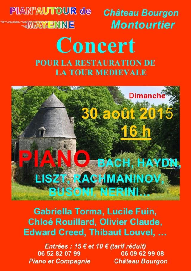 Affiche concert tour chateau de bourgon