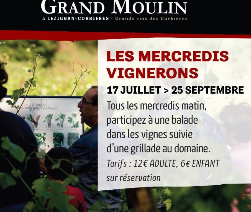 Les mercredis vignerons de Grand Moulin 2019