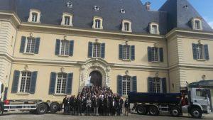 photo de groupe GSVI au Château de Rajat