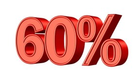 60% figure
