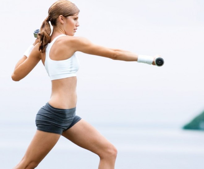 Workout to tone shoulders and legs