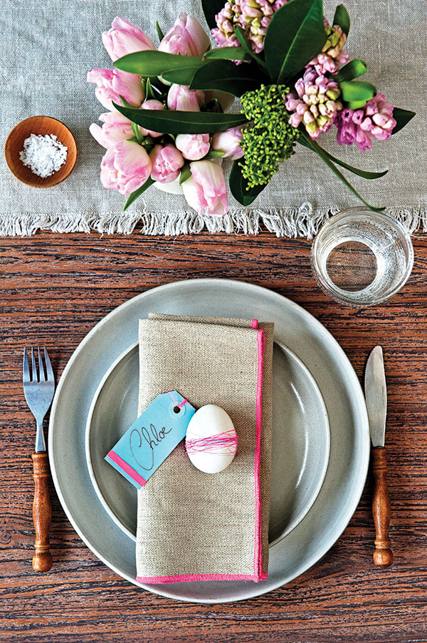 A Simple And Elegant Easter Place Setting Chatelaine