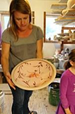 Platter ready for firing