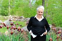 Dorrie in the garden -photo Bett Foley