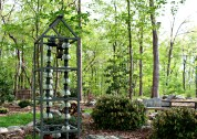 Dorrie created this garden sculpture from re-purposed items - photo Bett Foley