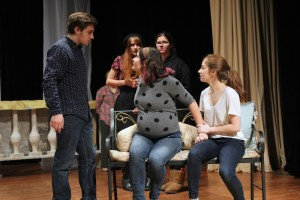 The Winter's Tale Fall Festival of Shakespeare rehearsal CHS 2015