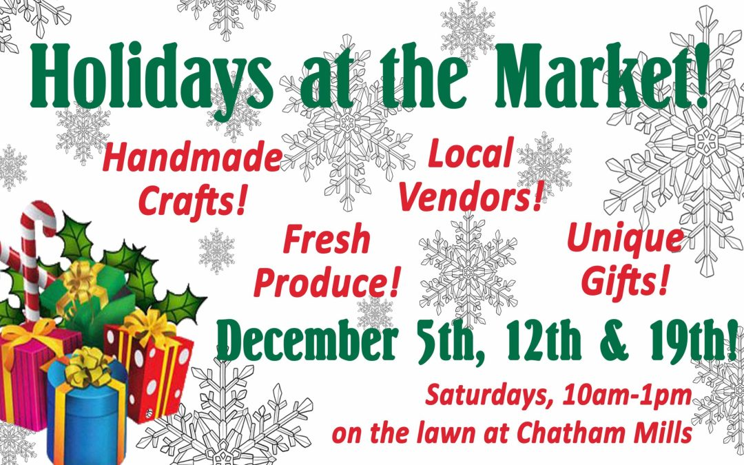 This Week: December 5th, 10am to 1pm!