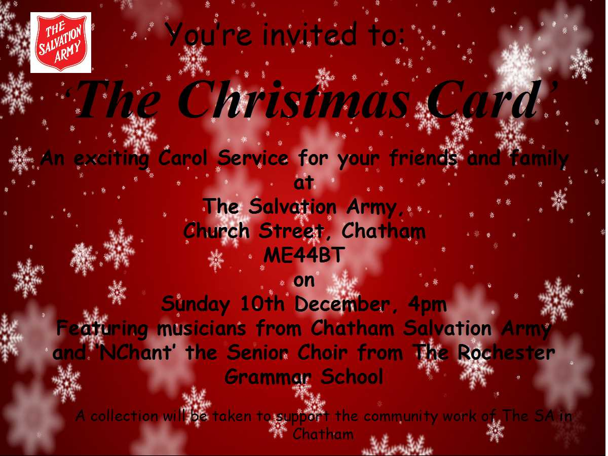 The Christmas Card | Chatham Salvation Army