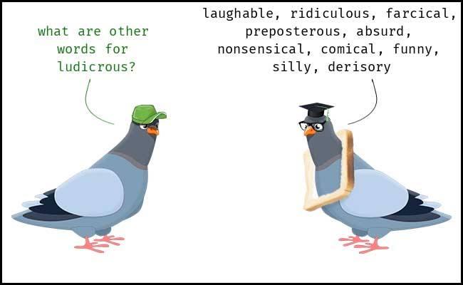Learn English word LUDICROUS