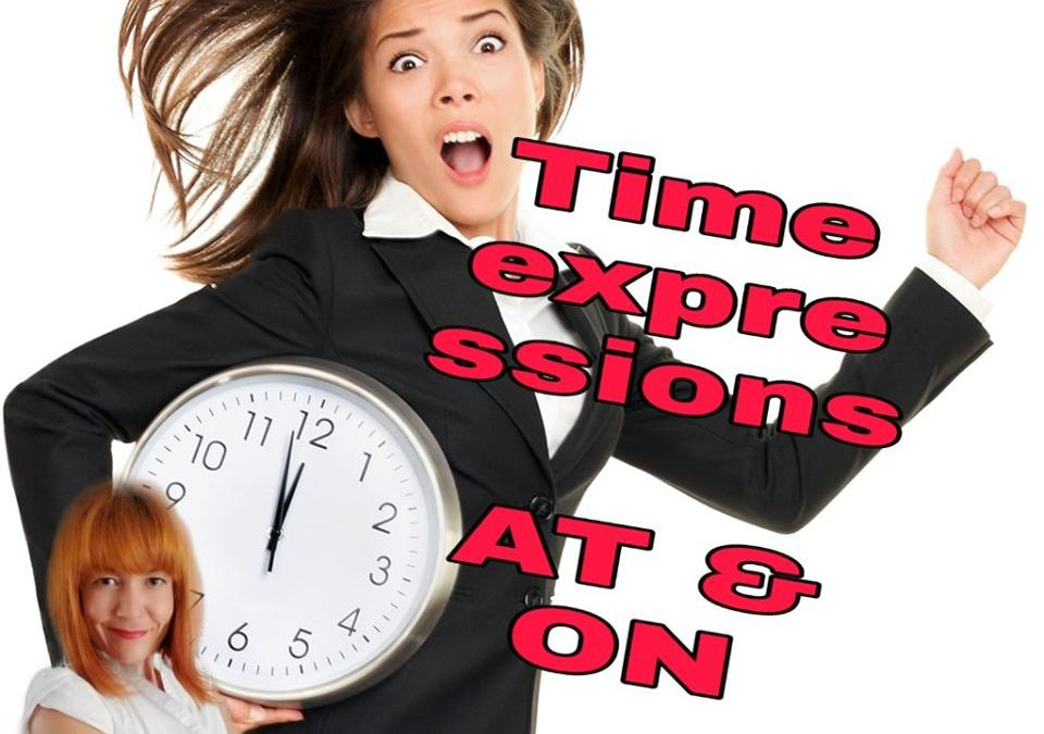 Using correct time prepositions AT and ON | English Time Ask Elo