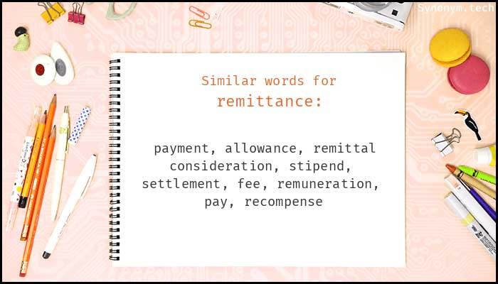 Learn remittance Meaning Etymology