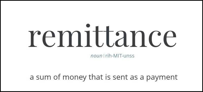 Learn remittance Meaning origin and Etymology