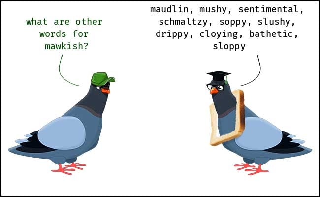 Wordipedia Learn MAWKISH Meaning Etymology and Synonyms