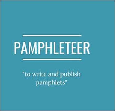 Wordipedia Learn PAMPHLETEER Meaning Etymology and Synonyms