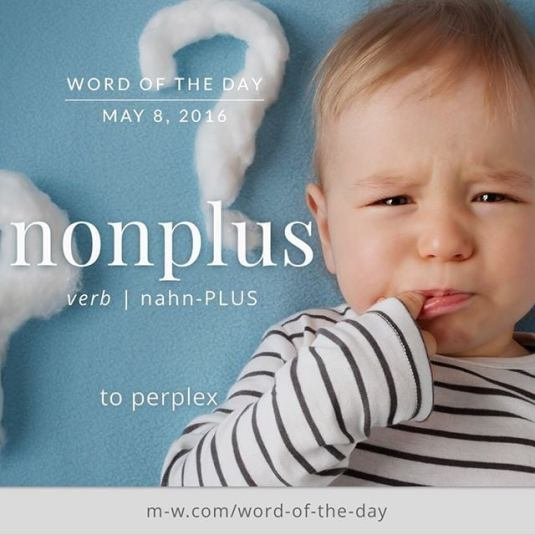 NONPLUS Meaning NONPLUS Etymology NONPLUS Synonyms and Antonyms