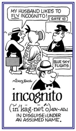 Incognito Meaning Incognito Etymolo