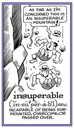 Insuperable Meaning Insuperable Etymology Insuperable Synonyms and cartoon Chatsifieds