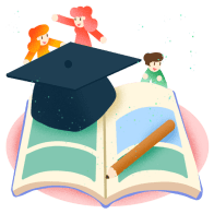 open English book and graduation hat Chatsifieds easy english