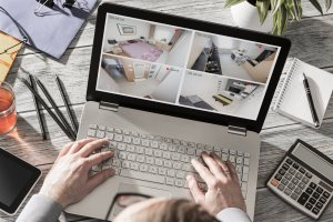CCTV view in laptop | Chattanooga Home Inspector | home security Chattanooga
