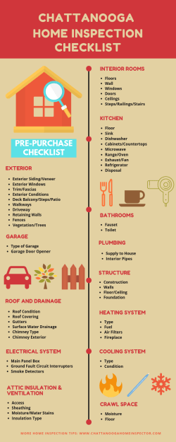 Chattanooga Home Inspection Checklist Infographics