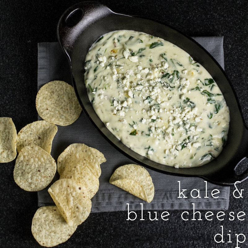 Kale & blue cheese dip is creamy, cheesy, and tangy, but you can tell yourself it's healthy too because KALE. | chattavore.com