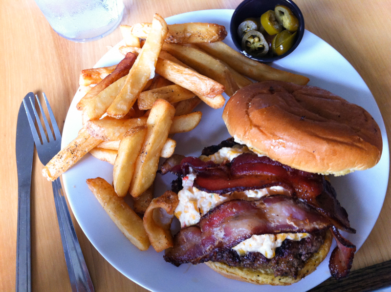 Universal Joint Chattanooga is a burger joint located in an old service station near the Hamilton County Courthouse in Downtown Chattanooga. | restaurant review from Chattaovore.com