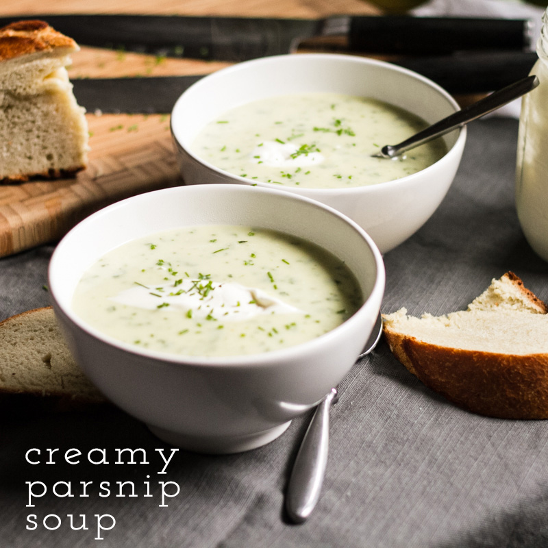 This creamy parsnip soup is rich, warm, and comforting. Parsnips lend an earthy flavor and heavy cream and crème fraîche make it super-creamy. | recipe from Chattavore.com