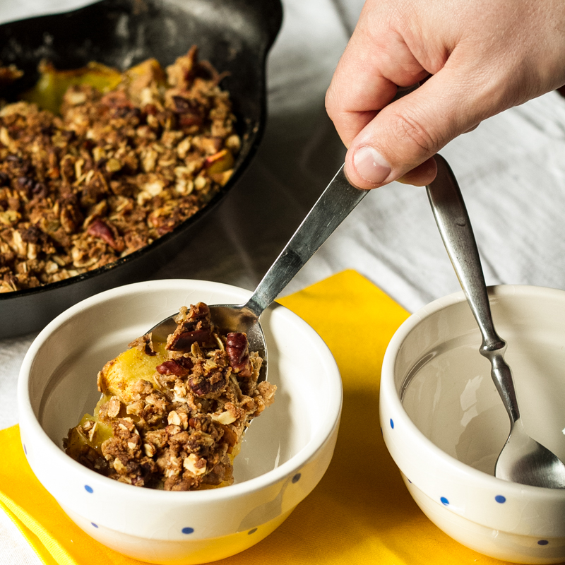 peach breakfast crisp | chattavore