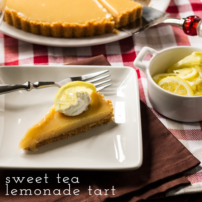"This sweet tea lemonade tart is everything you love about an ""Arnold ..."