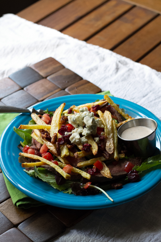 Imagine my delight when I perused the menu at The Terminal and discovered the West by God salad - aka salad with STEAK AND FRIES. | recipe from Chattavore.com
