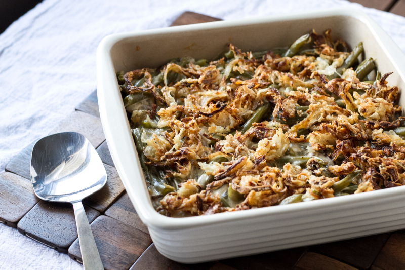 Forget everything that you think you know about green bean casserole. Make it my way and tell me you don't love a good green bean casserole from scratch! | recipe from Chattavore.com