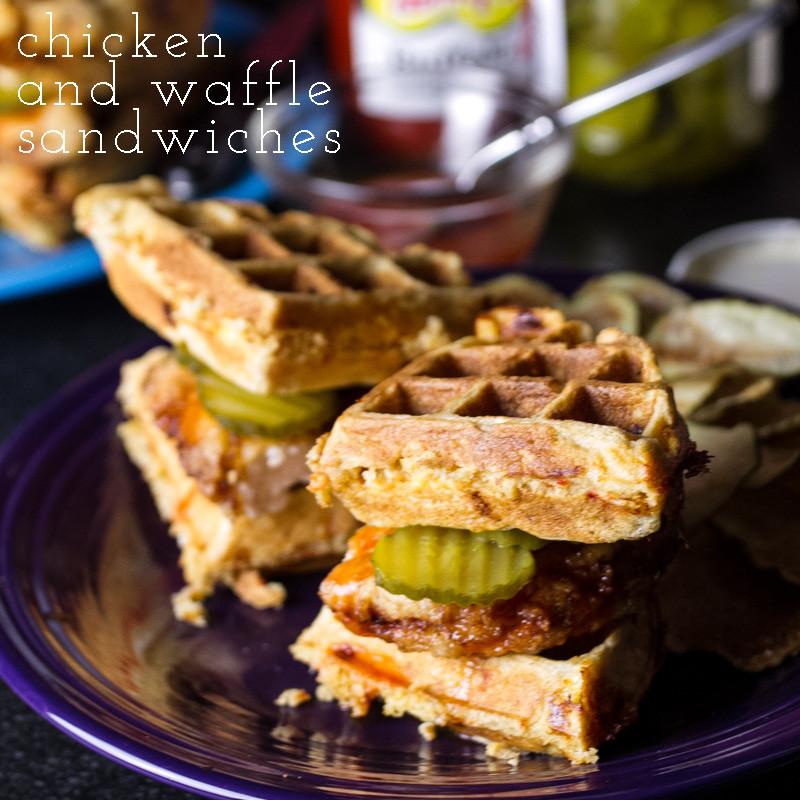 chicken and waffle sandwiches   chattavore