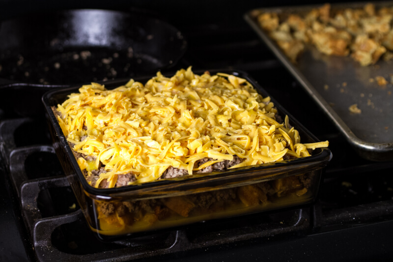 ... , or really whenever , give this sausage and waffle casserole a go