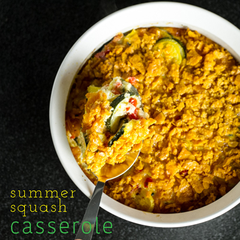 This summer squash casserole is packed with yellow squash, zucchini, and cheese and topped with crushed cheese crackers! | chattavore.com