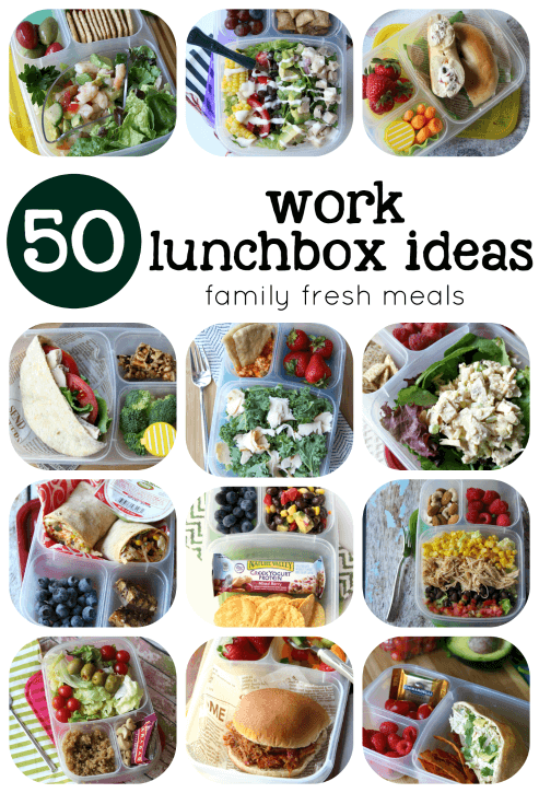 50 Healthy Work Lunchbox Ideas from Family Fresh Meals