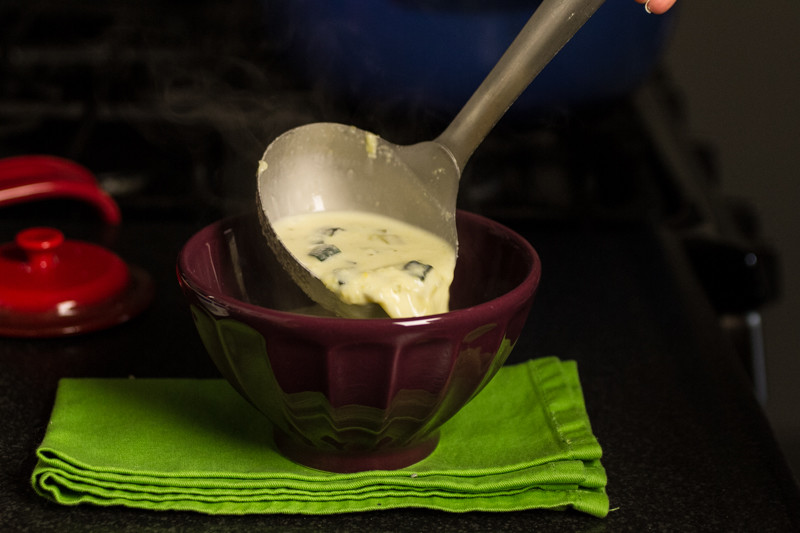 Green chile corn chowder is a great way to welcome Fall OR use up the last of the seasonal summer vegetables from your produce market! | chattavore.com