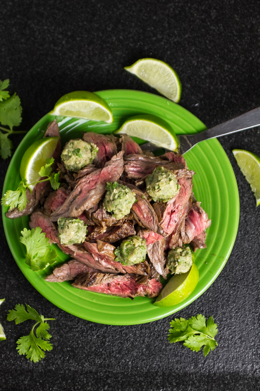 Marinated Skirt Steak & Cilantro-Lime Ghee - Chattavore