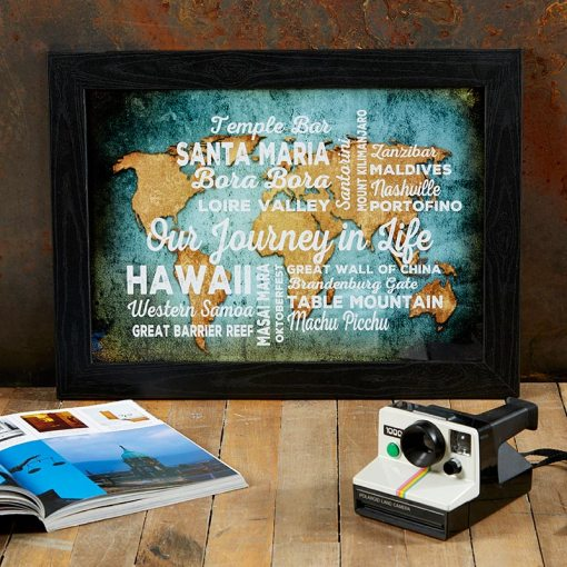 Personalised Word Art World Atlas Map Print   Live Previews