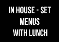 SET MENU WITH LUNCH