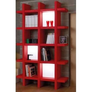 etagere haute design a larges cases ouvertes double face 4 6 8 9 ou 12 cases avec acces des 2 cotes