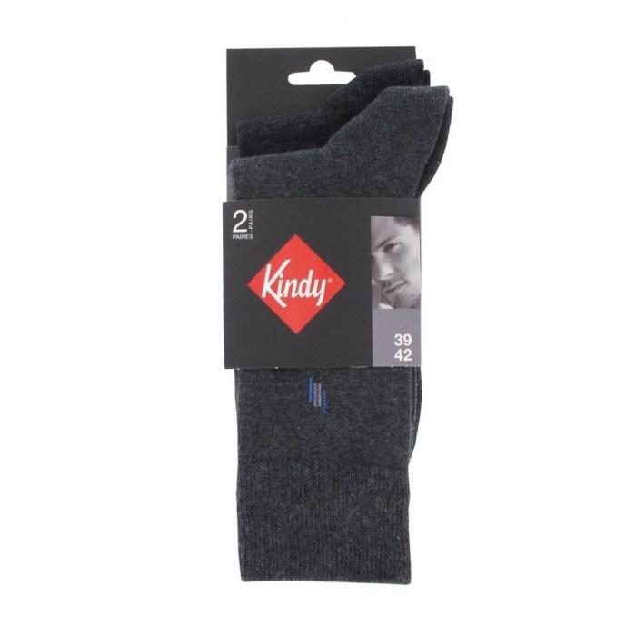 Chaussettes en coton 1 paire fantaisie + 1 paire unie