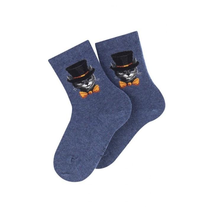 Mi-chaussettes motif chat Arsène en coton