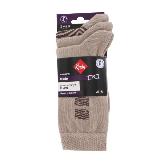 Lot de 3 paires de chaussettes tendance en coton